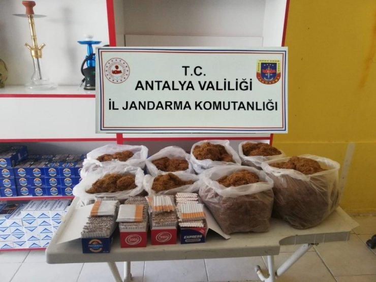 Antalya'da jandarmadan kaçak sigara denetimi