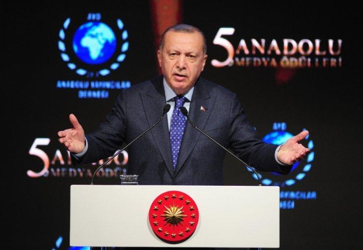 Cumhurbaşkanı Erdoğan'dan ABD'nin sözde barış planına tepki