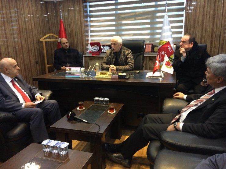 İYİ Parti heyetinden Bayburt Gazeteciler Cemiyeti'ne ziyaret