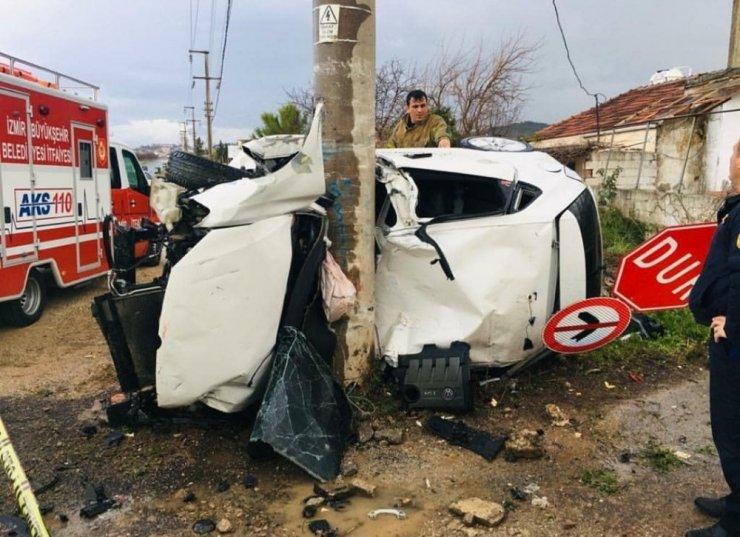 İzmir'de feci kaza: 1 ölü