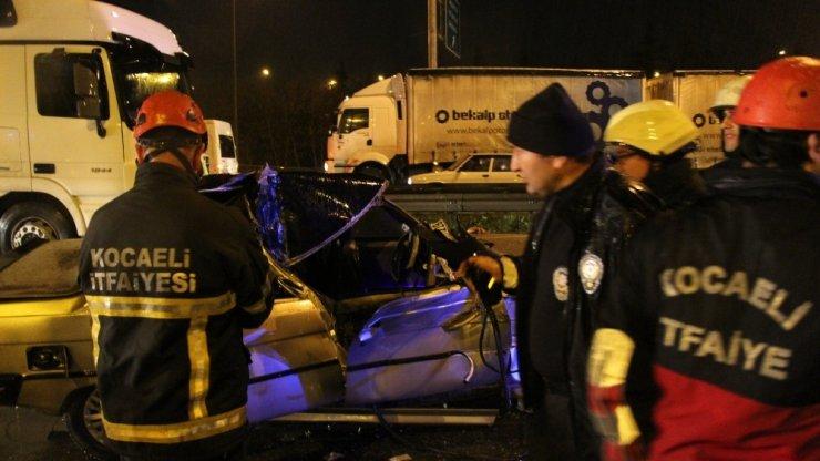 Kocaeli'deki kazada ağır yaralanan genç hayatını kaybetti