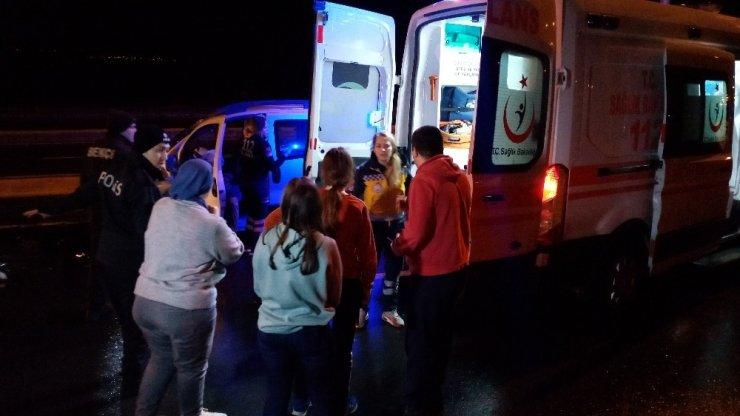 Ters yöne giren alkollü sürücü yolcu otobüsüyle çarpıştı