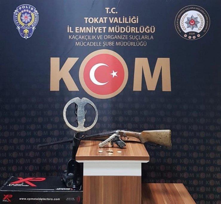 Tokat'ta polis operasyonu, 153 parça tarihi eser ele geçirildi
