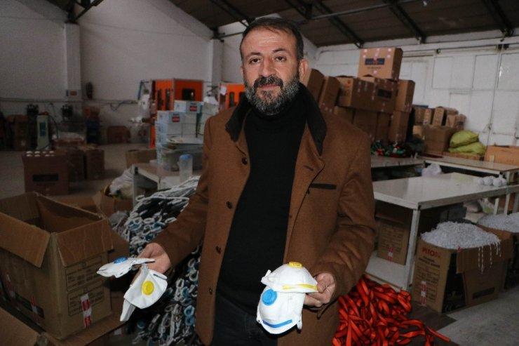 Kayserili firma Çin'e maske yetiştirmek için gece gündüz mesai yapıyor