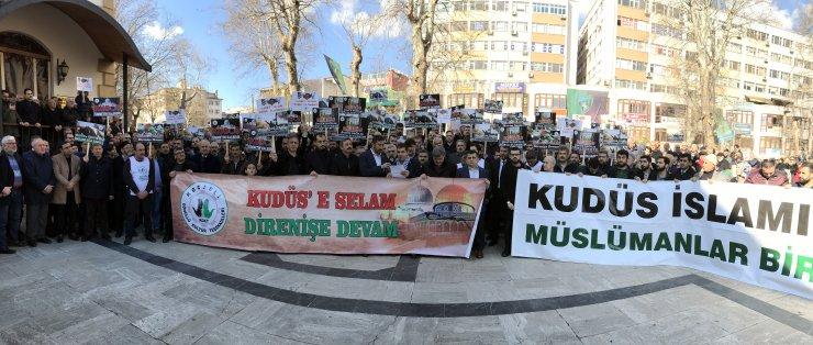 Kocaeli'de 50 sivil toplum kuruluşu Trump'ın sözde barış planına tepki gösterdi