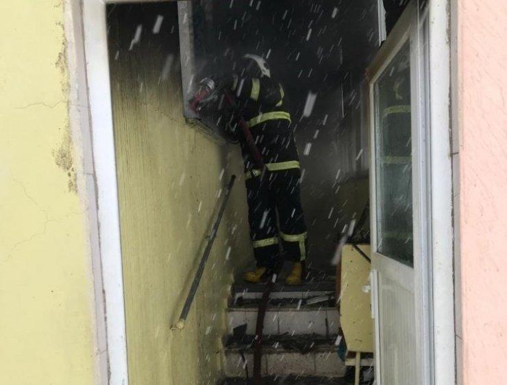 Ordu'da bir ev yangında kül oldu