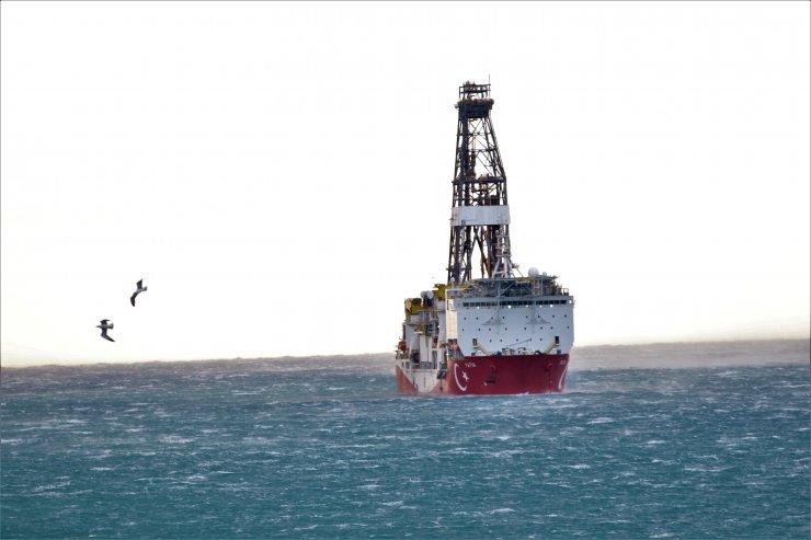 Doğu Akdeniz'de faaliyet gösteren Fatih sondaj gemisi Mersin açıklarında