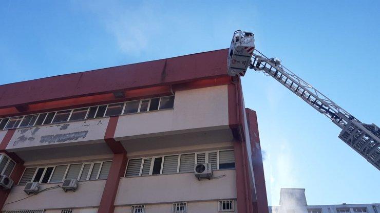 Kocaeli'de Gebze İlçe Emniyet Müdürlüğü binasında yangın