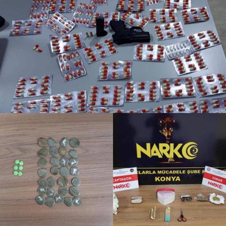 Konya'da kaçak akaryakıt ve uyuşturucu operasyonu