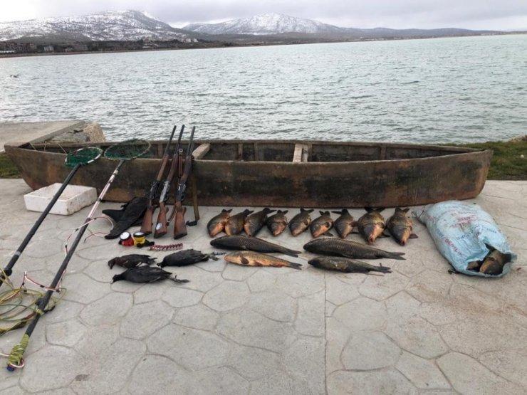 Konya'da elektroşokla balık avına 420 bin lira ceza