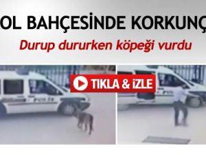Komiser Yardımıcısı Karakol Bahçesinde Köpeği Vurdu