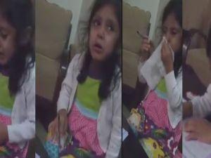 Ödev yapmak istemeyen sevimli kız
