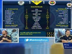 Konyaspor'un galibiyet golünden sonra FB TV!