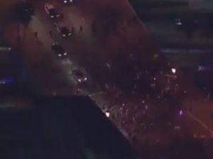 ABD'de korkulan oldu! Gösterilerde kan döküldü