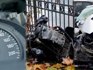 Şişli'deki kazada motoru sökülen aracın hız ibresi takılı kaldı
