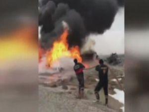 Kaza yapan tankerle kamyon alev alev yandı: 2 ölü