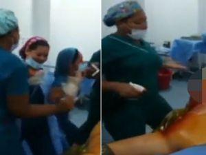 Ameliyathanede skandal görüntüler!