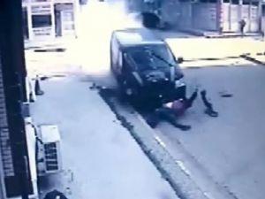Tekirdağ'da korkunç kaza kamerada: Metrelerce sürüklendi