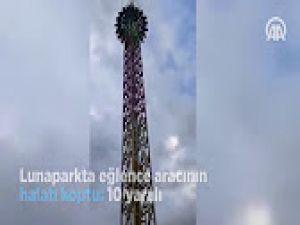 Konya'da Lunaparkta eğlence aracının halatı koptu