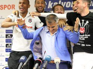 Beşiktaşlı oyunculardan Şenol Güneş'e sürpriz