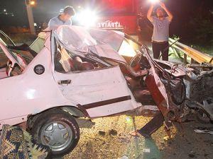 Tekirdağ'da feci kaza! Bu araçtan sağ çıktı