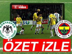 ÖZET İZLE: Konyaspor 1-1 Fenerbahçe Maçı Özeti ve Golleri İzle|Konyaspor Fenerbahçe kaç kaç bitti?