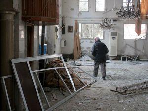 Esed rejiminin yıktığı camide ezanlar susmuyor