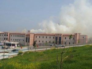 Bursa'da hastanede korkutan yangın
