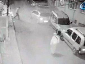 İstanbul'da facianın eşiğinden dönülen anlar kamerada