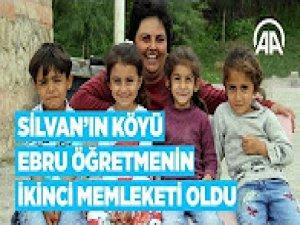 Silvan'ın köyü Ebru öğretmenin ikinci memleketi oldu
