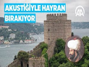 Fatih Sultan Mehmet'in divanhanesi akustiğiyle şaşırtıyor