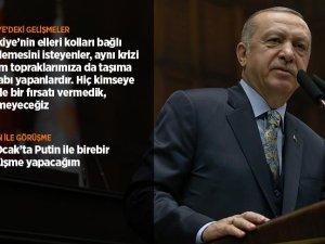 Cumhurbaşkanı Erdoğan konuştu