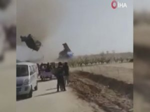 Çin'de hortum şişme trambolinleri havaya savurdu: 2 ölü, 20 yaralı