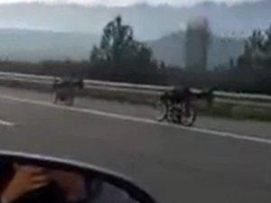 Bursa'da ölümüne yarış böyle kaydedildi