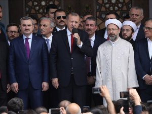 Erdoğan, Alibeyköy'deki Hacı Osman Torun Camisi'nin açılışında konuştuı